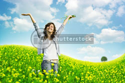 shutterstock woman field