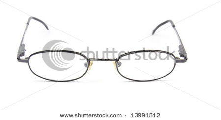 Man woman Spectacles isolated on white background