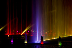 The largest multimedium fountain in Europe in Wroclaw