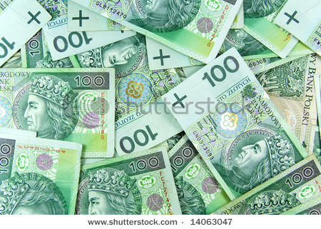 polish green money background pattern
